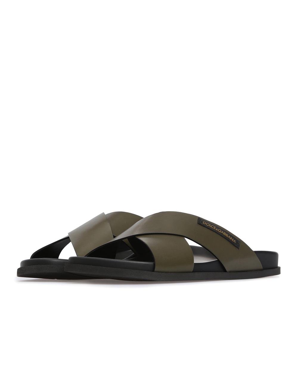 Кожаные слайдеры Dolce&Gabbana A80134-AZ630 — Kameron