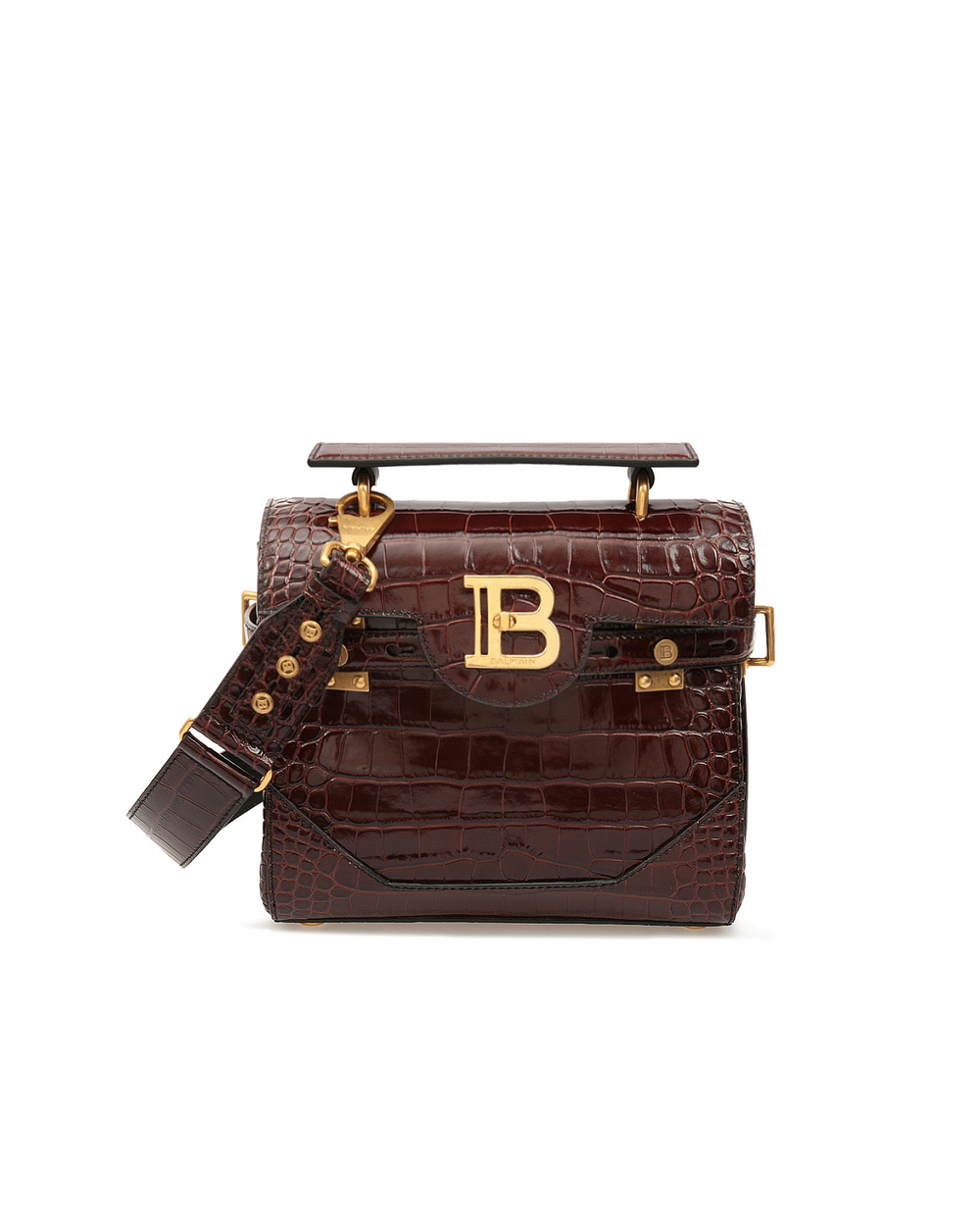 Кожаная сумка B-Buzz 23 Balmain UN0S526LVCW — Kameron